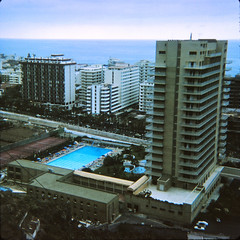 IMG_0002 Tenerife largest of Spain's Canary Islands Aug 1969 Swimming Pool (photographer695) Tags: geoff jean spafford rip old family photos tenerife largest spain's canary islands aug 1969 swimming pool slide
