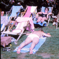 IMG_0025a Tenerife largest of Spain's Canary Islands Aug 1969 Sunbathing (photographer695) Tags: geoff jean spafford rip old family photos tenerife largest spain's canary islands aug 1969