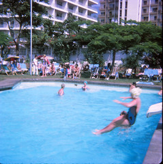 IMG_0006 Tenerife largest of Spain's Canary Islands Aug 1969 Swimming Pool Slide (photographer695) Tags: geoff jean spafford rip old family photos tenerife largest spain's canary islands aug 1969 swimming pool slide