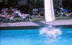 IMG_0005a Tenerife largest of Spain's Canary Islands Aug 1969 Swimming Pool Slide (photographer695) Tags: geoff jean spafford rip old family photos tenerife largest spain's canary islands aug 1969 swimming pool slide