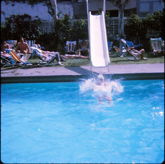 IMG_0005 Tenerife largest of Spain's Canary Islands Aug 1969 Swimming Pool Slide (photographer695) Tags: geoff jean spafford rip old family photos tenerife largest spain's canary islands aug 1969 swimming pool slide