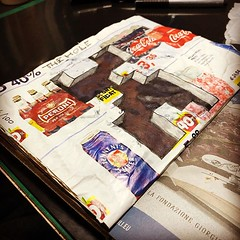 Black hole (xLontrax) Tags: journaling scrapbooking dailyjournal junknotebook junkjournal perspective anamorphic 3ddrawing