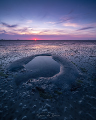 Private Pool! (karindebruin) Tags: krabbendijke nederland netherlands roelshoek zeeland zonsondergang laagwater lowtide optdroge slik sunset puddle