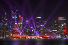 up in lights (Greg M Rohan) Tags: nikon d750 nikkor 2019 longexposure nightphotography color colour building water skyline architecture skyscraper buildings lights cityscape nightlights skyscrapers sydney vivid australia lasers laser lightbeams laserbeams sydneycity vividfestival farbe lumières 色 シドニー 顏色 ライト 悉尼 燈火 red purple