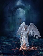 gefallener_engel (Harry Dona) Tags: darkangel landschaft harrydona totenreich dramatisch surreal fantasy composing photoshop adobe tutorial landscape angel surreallandscape fantasylandscape