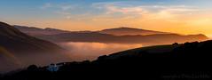 The Ritual (philipleemiller) Tags: d800 california panoramas fog sunset silhouettedridges pinksky clouds carmel