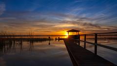 I Love Florida (Star Wizard) Tags: auburndale florida unitedstatesofamerica sunset water reflections lake dock