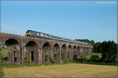 Flying out of Oxfordshire (Resilient741) Tags: class 68 68010 chiltern trains railways railway train diesel loco souldern viaduct aynho oxfordshire northants northamptonshire br british rail locomotive locomotives