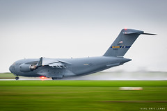 04-4128 - US Air Force C17 | CFR (Karl-Eric Lenne) Tags: 044128 usaf c17 mcguire afb glomaster globemaster caen 75th dday 2019 transport war wet weather