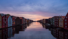 Trondheim, 2.30 a.m. (John Twohig Photography) Tags: norway nidelva river house midnight sun north light blue golden colour color water reflection tranquil peaceful quiet sky cloud