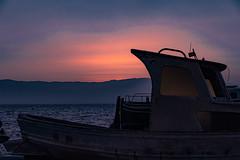 Get dark in the Cape of cats....., Atardeciendo en el Cabo de gatas...... (Joerg Kaftan) Tags: barcos navios atardecer cielo sombras siluetas colores ships sunset sky shadows silhouettes colors