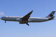 Leaf A330 In The Summer... (Ben Cavers) Tags: aircanada airbusa330343x airbusa330343 airbusa330300 airbusa330 airbus a330343x a330343 a330300 a330 aircanadaairbusa330 aircanadaa330 cgfur londonheathrowairport londonheathrow heathrowairport heathrow lhr egll widebodyjet widebody passengerjet jetliner jet commercialairliner commercialaviation airplane airliner aircraft aviation plane