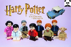Escape From Privet Drive (+ NEW VIDEO) (HaphazardPanda) Tags: lego figs fig figures figure minifigs minifig minifigures minifigure purist purists character characters films film movie movies tv harry potter wizarding world chamber secrets dursleys dursley vernon petunia dudley privet drive escape from weasley fre george ron ford anglia dobby