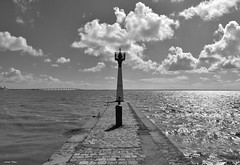 Ré à l'horizon !!! (François Tomasi) Tags: françoistomasi îlederé pontdelîlederé ré charentemaritime sudouest france europe french monochrome tomasiphotography justedutalent groupe blackandwhite noiretblanc lights light lumière iso filtre pont bridge océan mer sea eau water borddemer atlantique tourisme 2019 photo photographie photography photoshop reflex nikon yahoo google flickr pointdevue pointofview pov digital numérique vue panorama clouds cloud nuages nuage ciel sky