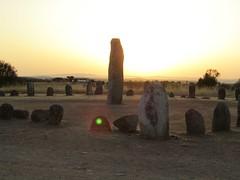 xerez stone circle at sunrise (lualba) Tags: steinkreis stonecircle monsaraz xerez alentejo portugal sunrise sonnenaufgang