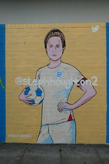 Louise Z Pomeroy street art, Shoreditch (duncan) Tags: graffiti streetart shoreditch twitter footballer womeninfootball stephhoughton louisezpomeroy