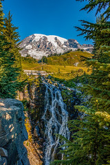 Myrtle Falls (PNW-Photography) Tags: paradise mt rainier mtrainier mountain mountains pacificnorthwest northwest hiking hike viewpoint waterfall waterscape water landscape nationalpark