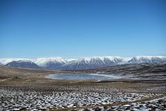 Surrounded by mountains (Varvara_R) Tags: iceland travel lake mountain mountainrange bluesky valley nature landscape mountainscape horizontal sunnyday sunny