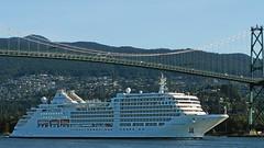 mv. silver muse (heinz41) Tags: em10markiii olympus pl25mm panasonic leica cruiseships lionsgatebridge northshore mountains burrardinlet vancouver