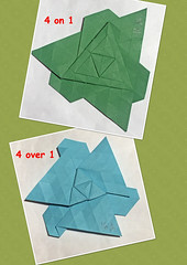 MOLECULES 4 ON 1 / OVER 1 (mganans) Tags: origami tessellation