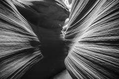 Shadow Lines (CraDorPhoto) Tags: canon5dsr landscape canyon slotcanyon monochrome blackandwhite nature outdoors outside page arizona usa sandstone rockformations shadows light lines
