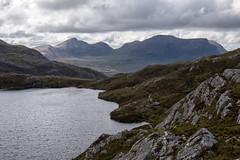 Quinag and Loch Bealach a' Bhùirich (Francis Mansell) Tags: quinag spideancoinnich sàilgharbh mountain corbett lake loch path stalkerspath lochbealachabhùirich bealachabhùirich sutherland scotland scottishhighlands rock sky cloud water