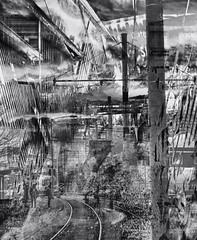 Bedraggled and Outspun (Paul B0udreau) Tags: nikkor50mm18 photoshop canada ontario paulboudreauphotography niagara d5100 nikon nikond5100 layer toronto bw streetcar ttc people