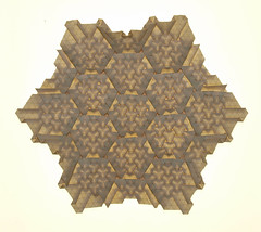 4 OVER 1 HONEYCOMB TESSELLATION (mganans) Tags: origami tessellation