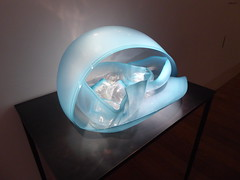 Clear Cerulean Blue Basket With Black Lip Wraps by Dale Chiluly - 1995 (miketransreal) Tags: dale chiluly glass sculpture kew gardens london june 2019 exhibition