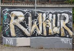 RW and HUR (svennevenn) Tags: gatekunst streetart bergen hur rw bergengraffiti graffiti