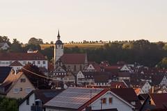 Sundown at Waldenbuch-E6271797 (tony.rummery) Tags: blackforest church em10 eveningsun germany mft microfourthirds omd olympus waldenbuch badenwürttemberg