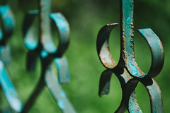 Rusty fence (Inka56) Tags: smileonsaturday rustybeauty fence rust green crazytuesday repetition