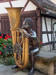 Waldenbuch Town-E6271685 (tony.rummery) Tags: blackforest boy em10 germany mft microfourthirds omd olympus sculpture town tuba waldenbuch badenwürttemberg