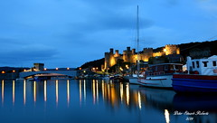 Conwy Knights (Peter.S.Roberts) Tags: interesting conwyknights conwy northwales conwycastle longexposure night evening blue bluehour castle water river sea ocean riverconwy afonconwy boats landscape seascape wideangle harbour harbor lights lighting illuminated reflections reflectionsonwater fishingboats mountain bridge turrets shadows bluesky clouds masts rigging fishingport wales welsh cymru flickr composition perspective pov dof details best colours colourful outdoor peterstuartroberts nikon nikond7200 quiet calm serene peaceful restful tranquil