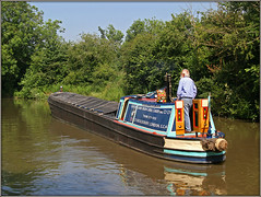 STANTON (Jason 87030) Tags: nb narrowboat classic vintage boat stanton blue event rally historic history braunston local northants 2019 northamptonshire man scene reflection water cut canal guc grandunioncanal diary uk england afloat carrying