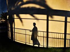 And her she is......... (RadarO´Reilly) Tags: street sunset shadow spain sonnenuntergang sundown streetphotography lanzarote schatten puertodelcarmen iphone hipsta hipstamatic