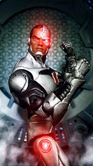 Victor Stone CYBORG (custombase) Tags: dc universe rebirth figures cyborg victor stone toyphotography