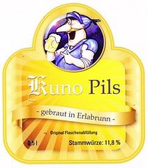 Germany - Kunos Braugasthaus (Erlabrunn) (cigpack.at) Tags: germany deutschland kunopils erlabrunn kunosbraugasthaus bier beer brauerei brewery label etikett bierflasche bieretikett flaschenetikett