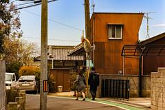 南近義神社前 (m-louis) Tags: 32mm j5 nikon1 house japan kaizuka mirror osaka people street 大阪 家 日本 貝塚 電柱