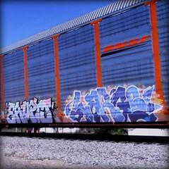 (timetomakethepasta) Tags: erupto large freight train graffiti art bnsf autorack sws d30 vts ba a2m