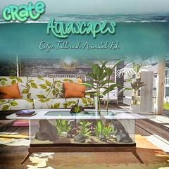 crate Aquascapes Coffee Table (crate.) Tags: crate decor aquascapes petfriends pets aquarium secondlife plantstable furniture silant1