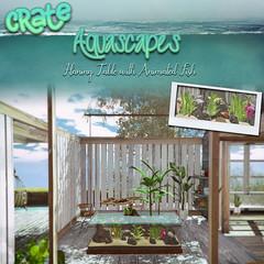 crate Aquascapes Hanging Table (crate.) Tags: crate decor aquascapes petfriends pets aquarium secondlife plantstable furniture silant1
