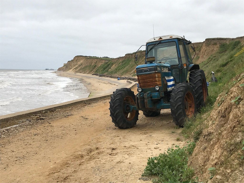 Tractor on West Runton beach
