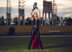 SP_77212-2 (Patcave) Tags: momocon momocon2018 2018 convention cosplay costumes cosplayers portrait shoot shot canon 1740mm f4 sigma 85mm f14 lens patcave 5d3 atlanta georgia world congress center outdoors hot humid thor hammer uru mjolnir marvel genderbend cinematic universe comics cape rule63 asgardian hero blonde