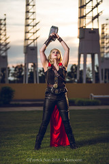SP_77208-2 (Patcave) Tags: momocon momocon2018 2018 convention cosplay costumes cosplayers portrait shoot shot canon 1740mm f4 sigma 85mm f14 lens patcave 5d3 atlanta georgia world congress center outdoors hot humid thor hammer uru mjolnir marvel genderbend cinematic universe comics cape rule63 asgardian hero blonde