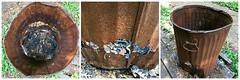 HSoS ~ Rusty Beauty (karma (Karen)) Tags: smileonsaturday rustybeauty hsos triptych picmonkey trashcan texture