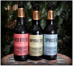 Clan Brewing Company Ales (zweiblumen) Tags: clanbrewingcompany beer ale whisky bottle canoneos50d canonspeedlite430exii polariser zweiblumen