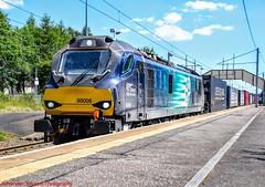 88006 @ Holytown (A J transport) Tags: class88 drs 88006 eletricodiesel locomotive juno freight intermodal railway trains scotland compasslogo