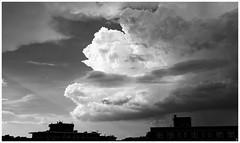 2019/179: Convective Activity (Rex Block) Tags: nikon d750 dslr 1835mm washington dc 17thstreet roof skyline clouds convection cumulonimbus storm thunderstorm rain monochrome bw project365 365the2019edition 3652019 day179365 28jun19 ekkidee 2019179convectiveactivity