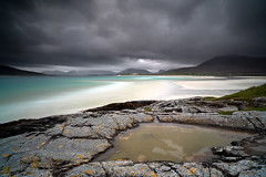 Seilebost beach (donnnnnny) Tags: seilebostbeach scotland scotlandhighlands scottishhighlands harrisisleofharrismaarsh hebrides sea sand storm water rocks beach